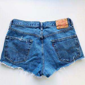 Levi's Vintage High Waisted Denim Jean Shorts S/33